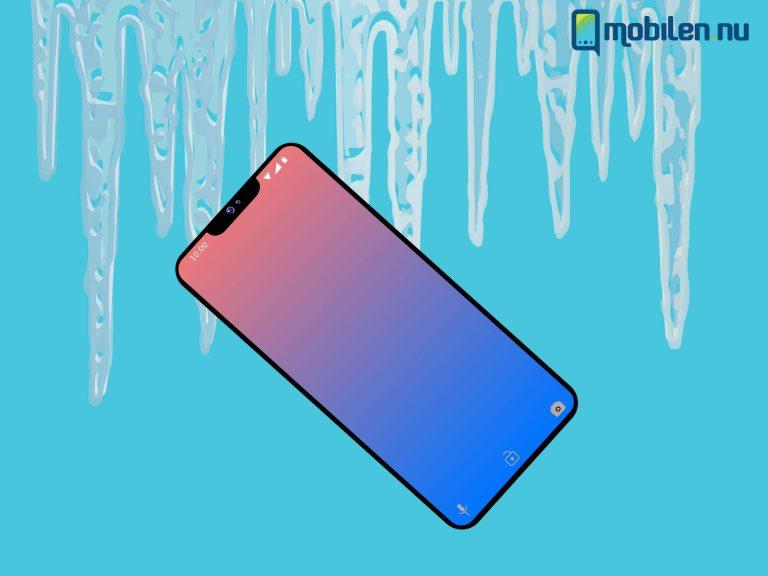 mobilen fryser